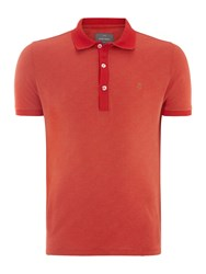 Peter Werth Araby Pin Dot Polo Shirt Red