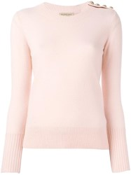 Burberry Round Neck Jumper Pink Purple