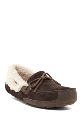 Ugg Fleming Genuine Sheepskin Lined Slipper Brown