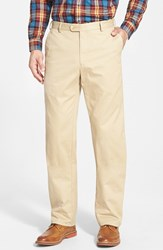 Men's Big And Tall Peter Millar 'Raleigh' Washed Twill Pants Khaki