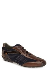 Men's Mezlan 'Vega' Sneaker Brown Navy Leather