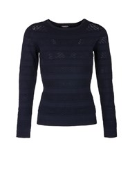 Morgan Openwork Knit Jumper Blue