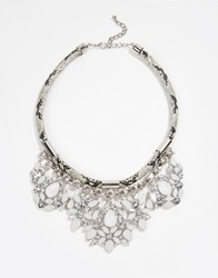 New Look Opal Snake Necklace Silver