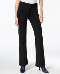 Bar Iii High Rise Flared Pants Only At Macy's Deep Black