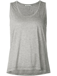 T By Alexander Wang Scoop Neck Tank Top Grey