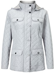 Four Seasons Polar Quilted Fleece Jacket Silver