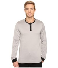 United By Blue Standard Long Sleeve Henley Grey Men's Clothing Gray