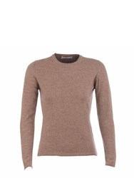 Johnstons Of Elgin Cashmere Round Neck Sweater Neutral