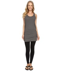 Lucy Yoga Girl Sleeveless Tunic Asphalt Heather Women's Sleeveless Gray