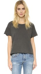 The Great. The Crop Tee Washed Black