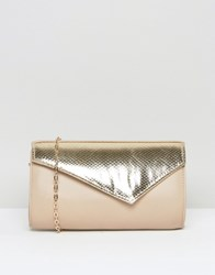 Lotus Kinga Contrast Envelope Clutch Bag Beige Gold