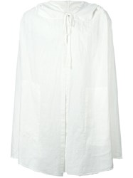 Lost And Found Rooms Asymmetric Raw Edge Jacket White