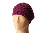 San Diego Hat Company Knh3366 Chunky Yarn Woven Beret Magenta Caps Pink
