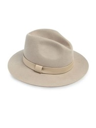 Lafayette 148 New York Leather Trimmed Felted Rabbit Hair Fedora Oro