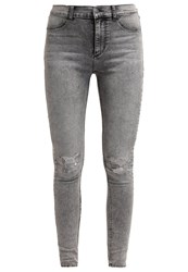 Cheap Monday High Spray Slim Fit Jeans Master Grey Stone Blue