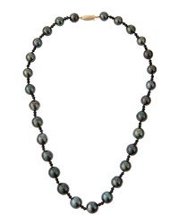 Belpearl Tahitian Black Pearl And Spinel Necklace Women's