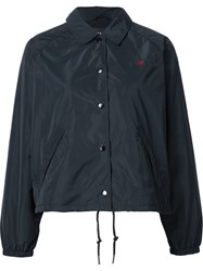 Obey Embroidered Rose Detail Jacket Black