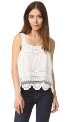 Love Sam Flower Crochet Tank Ivory