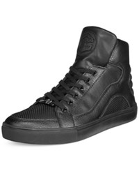 Guess Thorley Black Logo High Top Sneakers Men's Shoes