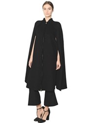 Salvatore Ferragamo Double Wool And Cashmere Cape