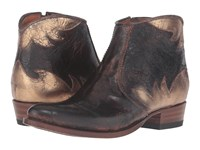Penelope Chilvers Ankle Boot Dunaway Brown Gold Bovine Leather Women's Boots