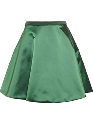 Acne Studios Fuel Shine Satin Skirt Green