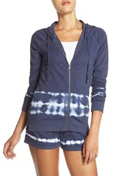 Make Model Women's Fleece Hoodie Blue Amparo Tie Dye