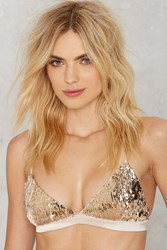 Nasty Gal Line And Dot Amour Sequin Bralette