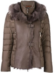 Baldinini Padded Jacket Brown