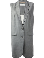 Veronique Branquinho Sleeveless Long Jacket Grey