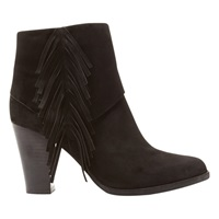 Mint Velvet Mary High Heel Ankle Boots Black Suede