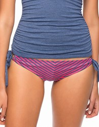 Splendid Malibu Striped Bikini Bottom Pink