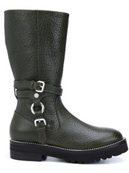 Moschino Buckled Boots Black