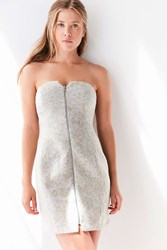 Silence And Noise Snow Leopard Strapless Mini Dress Neutral Multi
