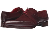 Jeffery West Slot Gibson Rioja Travy Burgundy Suede Men's Shoes Brown