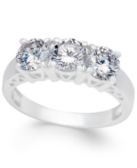 Charter Club Silver Tone Trinity Crystal Ring Only At Macy's
