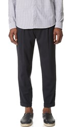 Vince Worsted Wool Long Rise Cuffed Trousers Coastal