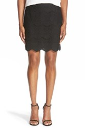 Chelsea 28 Lace Pencil Skirt Black