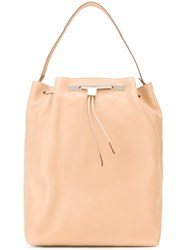 The Row Drawstring Fastening Medium Backpack Nude And Neutrals