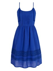 Yumi Cotton Crochet Summer Dress Cobalt
