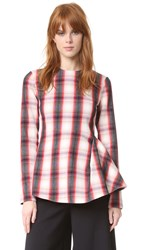 Msgm Plaid Blouse