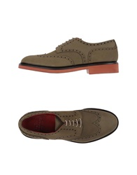 Doucal's Lace Up Shoes Military Green