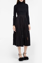 Msgm Women S Polka Dot Pleated Skirt Boutique1 Black