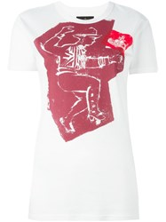 Vivienne Westwood Anglomania Man Print T Shirt White