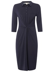 White Stuff Judith Jersey Shirt Dress Navy
