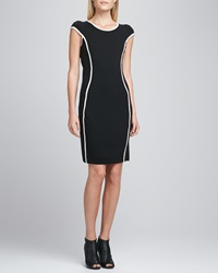 Christopher Fischer Contour Striped Knit Dress X Small 0 2