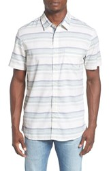 Quiksilver Men's 'Aventail' Stripe Woven Shirt Nightshade