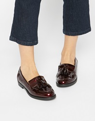 New Look Patent Tassel Loafer Deepred