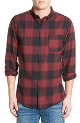 Men's Ezekiel Plaid Woven Shirt Bordeaux