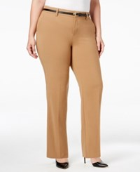 Charter Club Plus Size Tummy Control Trousers Only At Macy's Salty Nut